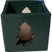 Bennington Potters Christmas Tree Candle Votive Cube