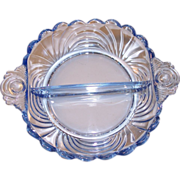 Cambridge Caprice Moonlight Blue Divided Dish