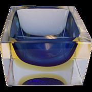 SALE Murano Sommerso Glass Block Cube
