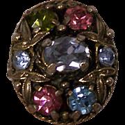 SALE Hollycraft Pastel Adjustable Ring