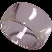 SALE Vintage Wide Clear Lucite Bangle Bracelet