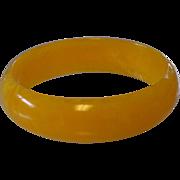 Marbled Citron Plastic Bangle Bracelet