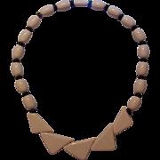 Creamy Ivory Lucite Plastic Necklace