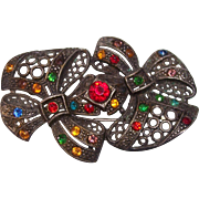Rhinestone Little Nemo LN Pot Metal Brooch