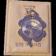 Sterling Silver Puerto Rico Souvenir Charm