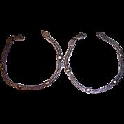 Pr Sterling Silver Woven India Bracelets