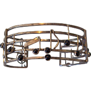 Sterling Silver Studio made Musical Notes Cuff Bracelet