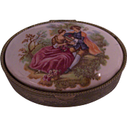 Fragonard Courting Couple Trinket or Pill Box
