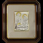 SALE Sterling Silver Italy Holy Family Romagnoli Wall Plaque Zeta Studio d'arte