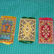 Three antique Dollhouse Rugs