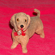 Cute Vintage Miniature Brown Dachsun Doll For All Bisque or Mignonette  Doll