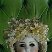 Very Fancy Antique Lace Doll Bonnet