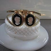 SALE FAB Camphor Cameos Clamper Bracelet
