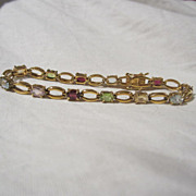 Vermeil Sterling Gemstone Bracelet