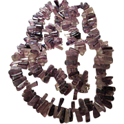 "SALE Gorgeous Amethyst 36"" Necklace Deep Purple to Lavender"