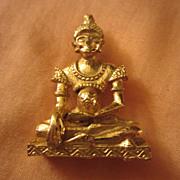 SALE Unique Tibetan or Far East Goddess Deity Pin