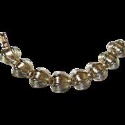 SALE Gorgeous Lisner Brushed Gold High Domed Bracelet