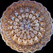 SALE Wonderful Detailed Crystal Circle Pin