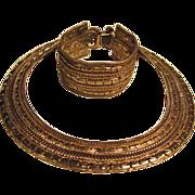 SALE Fabulous Matching Bracelet & Collar Necklace Classic Set