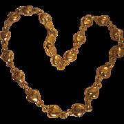 SALE Vintage 14K Gold Heart Ankle Bracelet NOS Be MY Valentine