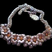 SALE Gorgeous Unusual Leru Flower Necklace with Original Hang Tag