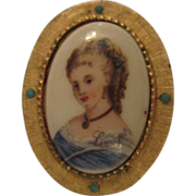 SALE Classic Limoges France Portrait Pin