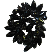 Weiss signed Fabulous Exotic Black Japanned Brooch/Pin