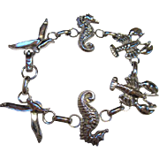 SALE Down by the Sea Bracelet Seahorses, Seagulls & Lobsters