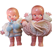 SALE Adorable Irwin Kewpie Dolls in Original Crochet Outfits