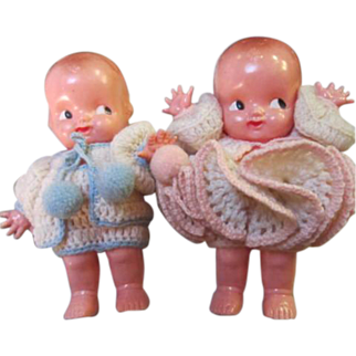 SALE Adorable Irwin Kewpie Dolls in Original Crochet Outfits