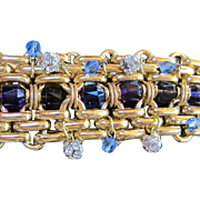 Gorgeous  Wide Jeweled Runway Statement Bracelet