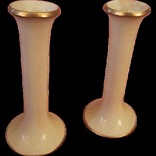 SALE Pair Dansk Mid Century Modern Sleek Tall Candlesticks  MCM