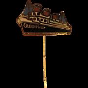 SALE Original RMS Queen Mary Ocean Liner Enamel Stick Pin