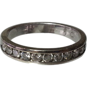 14K White Gold & Diamond  Anniversary Band ½ CTTW