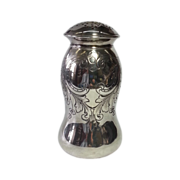 Vintage Chased Sterling Silver Muffineer