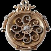 SALE Antique 10K Yellow Gold Victorian Watch Fob Locket