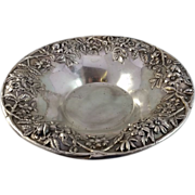 S. Kirk and Son Round Serving Bowl With Repousse Floral Design No monogram
