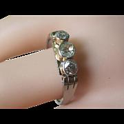 SALE Edwardian Platinum 18K Rose Gold  0.76 Carats Old Mine Cut Diamonds Unisex Ring