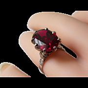 SALE VALENTINE'S SPECIAL! Art Deco Platinum Rubellite And Diamond Ring