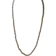 SALE Fabulous Vintage 24 1/4 Long Sterling Silver Bead Necklace On Sterling Silver Link ...