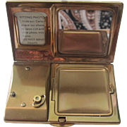 Vintage Made In England Melissa Musical Photo Compact