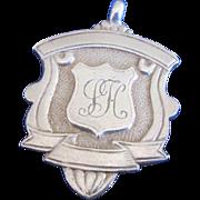 English Sterling Silver Award/Fob Medallion