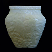 Imperial's Consolidated CHICKADEE Opaque Ivory Vase