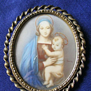 19th Century Miniature of Mary and Jesus