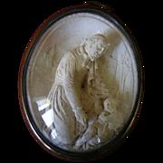 French Framed Plaster Reliquary