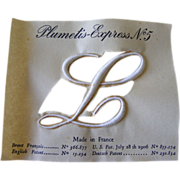 French Embroidery Initiales