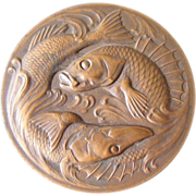 French Bronze Fishing Medal by C B Virion