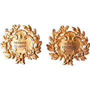 French Gilt Bronze Name Plaques