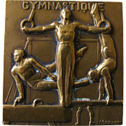 French Bronze Gymnastique Medal by Morlon