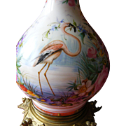 SOLD French Porcelain Hand Painted Lamp